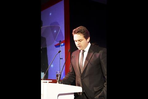 Fox's Andrew Turner accepts the Distributor of the Year award